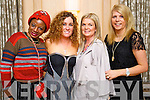 Pictured at the Hats and Heels fundraiser event in the Ballygarry House Hotel & Spa, Tralee, on Saturday night were l-r: Bukola Buyile (Oakpark, Tralee) Pauline Fitzgerald (Killarney) Fidelma Boyle (Ballyard) and Mandy Clail (Ballyseedy).