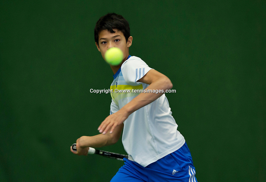 Almere, Netherlands, December 6, 2015, Winter Youth Circuit, Christopher Lam (NED)<br /> Photo: Tennisimages/Henk Koster