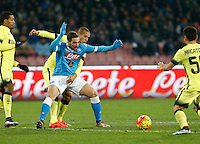 Napoli's Gonzalo Higuain during the Quartef-final of Tim Cup soccer match,between SSC Napoli and vFC Inter    at  the San  Paolo   stadium in Naples  Italy , January 19, 2016