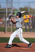 Cole Newman (47), from Kuna, Idaho, while playing for the Indians during the Under Armour Baseball Factory Recruiting Classic at Gene Autry Park on December 30, 2017 in Mesa, Arizona. (Zachary Lucy/Four Seam Images)