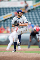 San Antonio Missions starting pitcher Brett Kennedy (17) delivers a pitch during a game against the Springfield Cardinals on June 4, 2017 at Hammons Field in Springfield, Missouri.  San Antonio defeated Springfield 6-1.  (Mike Janes/Four Seam Images)