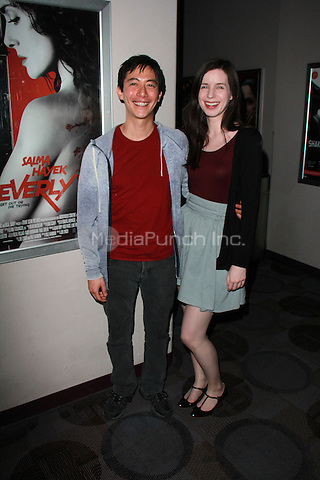 "BEVERLY HILLS, CA - FEBRUARY 28: Akie Kotabe, Jennnifer Dawn Williams at the ""Everly"" Opening Weekend Splatter-Ganza at Laemmle's Music Hall, Beverly Hills, California on February 28, 2015. Credit: David Edwards/DailyCeleb/MediaPunch"