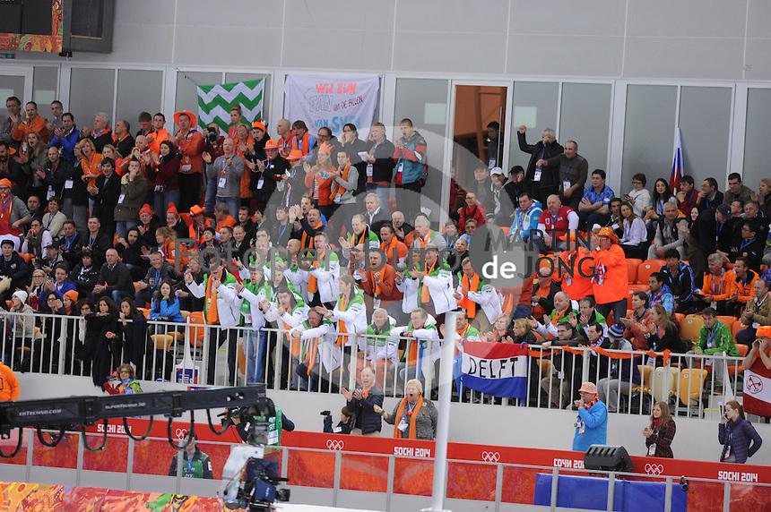 OLYMPICS: SOCHI: Adler Arena, 18-02-2014, Men's 10.000m, Dutch fans, ©photo Martin de Jong