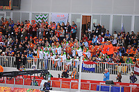 OLYMPICS: SOCHI: Adler Arena, 18-02-2014, Men's 10.000m, Dutch fans, ©photo Martin de Jong
