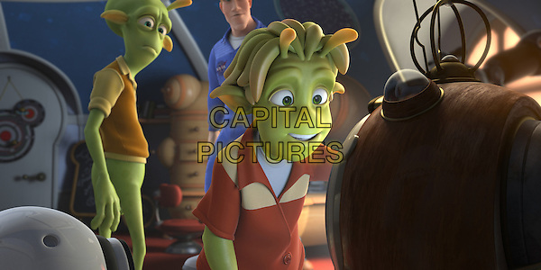 "SCENE - ""Skiff"" voiced by Seann William Scott & ""Lem"" voiced by Justin Long.in Planet 51 .*Filmstill - Editorial Use Only*.CAP/FB.Supplied by Capital Pictures."