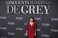Andrea Duro poses for the photographer during '50 Shades of Grey' film premiere in Madrid, Spain. February 12, 2015. (ALTERPHOTOS/Victor Blanco) /NORTEphoto.com