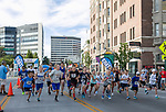 Runners start the 19 and under race during the 2nd Annual Reno Mile in downtown Reno on Saturday, Sept. 7, 2019.