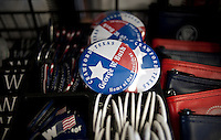 President George W. Bush pins in The Red Bull gift shop and Bush memorabilia store in Crawford, Texas, US, Wednesday, April 14, 2010. The Red Bull store is the last remaining gift shop in Crawford...PHOTO/ MATT NAGER