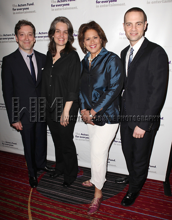 Jeremy Shamos, Pam MacKinnon, Anna Deavere Smith & Jordan Roth.attending the Actors Fund Gala honoring Harry Belafonte, Jerry Stiller, Anne Meara & David Steiner at the Mariott Marquis Hotel in New York City on 5/21/12