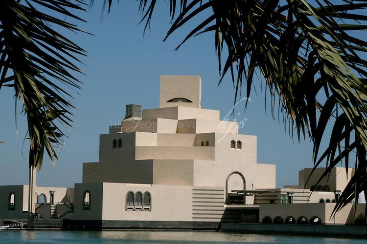 The Museum of Islamic Art, designed by I M Pei, Corniche, Doha, Qatar   Sept 09