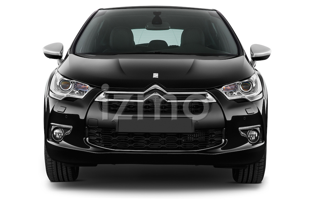 Straight front view of a 2013 Citroen DS4 Sport Chic 5 Door Hatchback 2WD