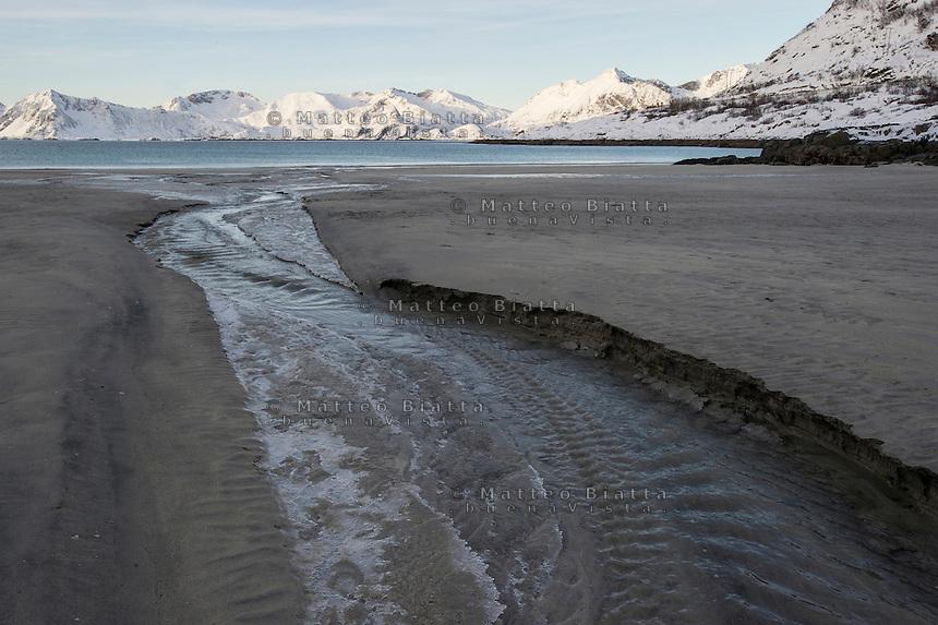 Isole Lofoten nella foto spiaggia geografico Svolv&aelig;r 13/02/2016 foto Matteo Biatta<br /> <br /> Lofoten Islands in the picture beach geographic Svolv&aelig;r 13/02/2016 photo by Matteo Biatta