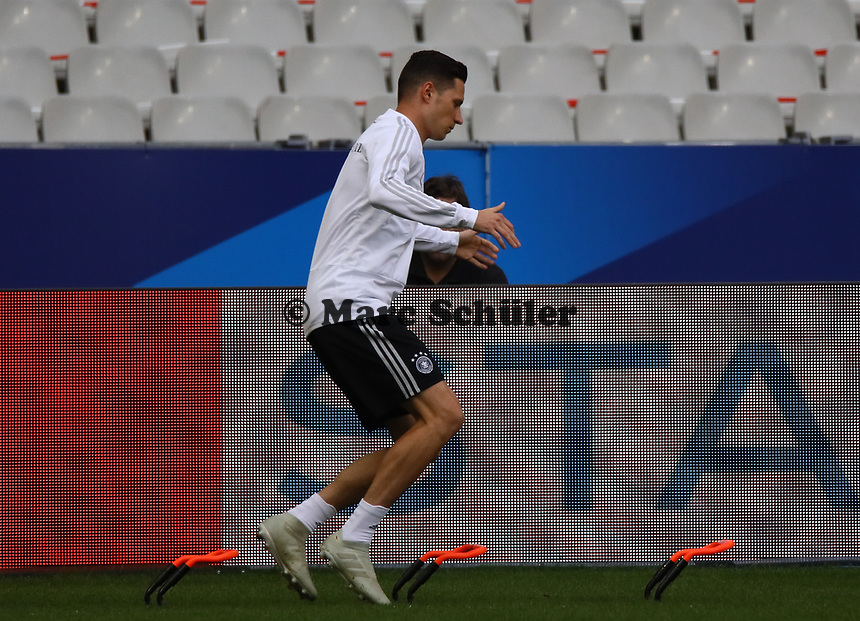 Julian Draxler (Deutschland, Germany) - 15.10.2018: Abschlustraining Deutschland vor dem Spiel Frankreich vs. Deutschland, 4. Spieltag UEFA Nations League, Stade de France, DISCLAIMER: DFB regulations prohibit any use of photographs as image sequences and/or quasi-video.