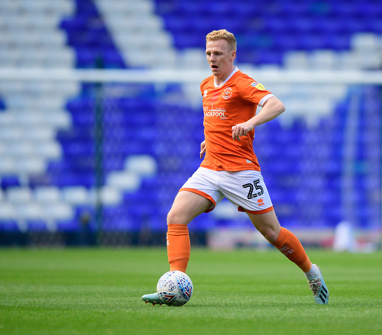Blackpool's Callum Guy<br /> <br /> Photographer Chris Vaughan/CameraSport<br /> <br /> The EFL Sky Bet League One - Coventry City v Blackpool - Saturday 7th September 2019 - St Andrew's - Birmingham<br /> <br /> World Copyright © 2019 CameraSport. All rights reserved. 43 Linden Ave. Countesthorpe. Leicester. England. LE8 5PG - Tel: +44 (0) 116 277 4147 - admin@camerasport.com - www.camerasport.com