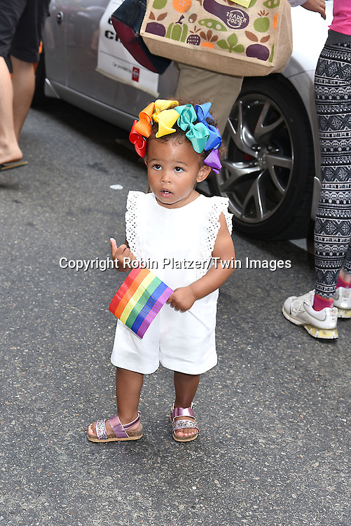 Aria de Chicchis attends the New York City Gay Pride March 2016 on June 26, 2016 on Fifth Avenue in New York City, New York, USA.<br /> <br /> photo by Robin Platzer/Twin Images<br />  <br /> phone number 212-935-0770