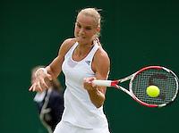 25-06-13, England, London,  AELTC, Wimbledon, Tennis, Wimbledon 2013, Day two, Arantxa Rus (NED)<br /> <br /> <br /> <br /> Photo: Henk Koster