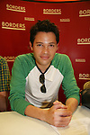 """Jason Tam will be reading passages Red Carpet Riot by """"David Van Etten"""" who is actually three writters: Emmy-winning OLTL scribe Chris Van Etten and his friends David Levithan and David Ozanich on August 15, 2009 at Borders, Time Warner Center Mall, New York City, New York. (Photo by Sue Coflin/Max Photos)"""
