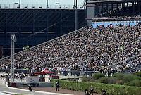 Oct. 28, 2012; Las Vegas, NV, USA: NHRA fans in the grandstands during the Big O Tires Nationals at The Strip in Las Vegas. Mandatory Credit: Mark J. Rebilas-