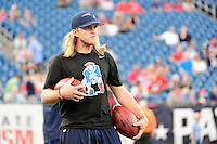 Thursday August 11, 2016: New England Patriots assistant coach Steve Belichick prepares for an NFL pre-season game between the New Orleans Saints and the New England Patriots held at Gillette Stadium in Foxborough Massachusetts. The Patriots defeat the Saints 34-22 in regulation time. Eric Canha/CSM