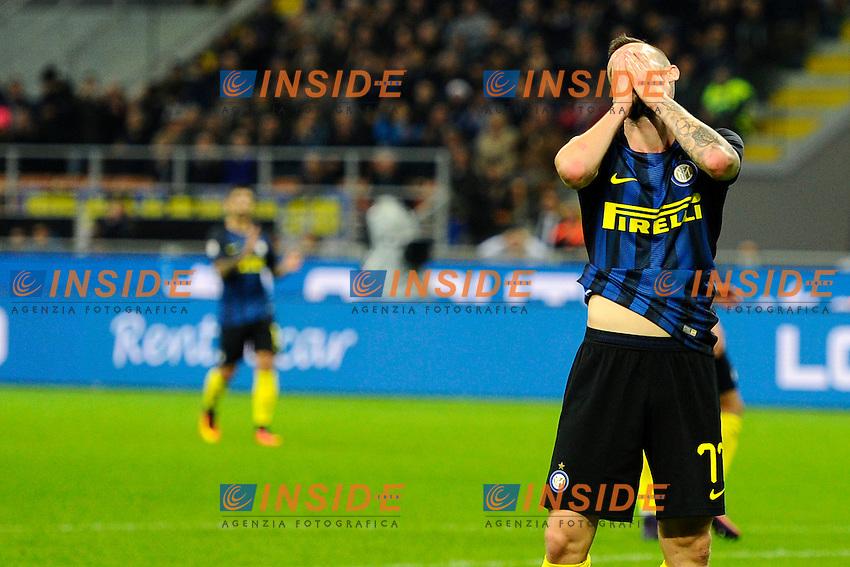 Dlusione per occasione fallita Marcelo Brozovic Inter<br /> Milano 26-10-2016 Stadio Giuseppe Meazza - Football Calcio Serie A Inter - Torino. Foto Giuseppe Celeste / Insidefoto