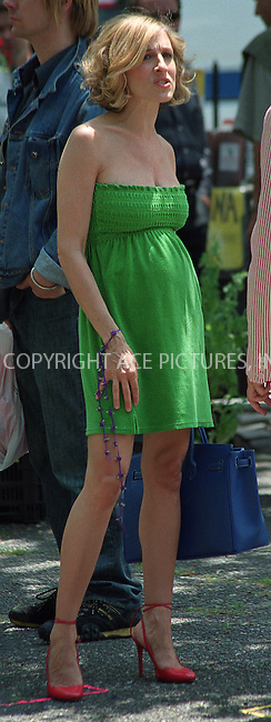"Very pregnant Sarah Jessica Parker on the set of ""Sex and The City"" in New York. June 17, 2002. Please byline: Alecsey Boldeskul/NY Photo Press.   ..*PAY-PER-USE*      ....NY Photo Press:  ..phone (646) 267-6913;   ..e-mail: info@nyphotopress.com"