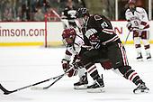 Tyler Moy (Harvard - 2), Davey Middleton (Brown - 21) - The Harvard University Crimson defeated the visiting Brown University Brown Bears 5-2 (EN) on Saturday, November 7, 2015, at Bright-Landry Center in Boston, Massachusetts.