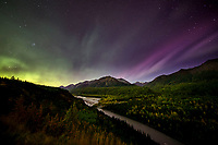 Fall landscape of Aurora Borealis (Northern Lights) over Matanuska River and Chugach Mountains in Southcentral, Alaska  Fall/Autumn<br /> <br /> Photo by Jeff Schultz/SchultzPhoto.com  (C) 2018  ALL RIGHTS RESERVED(Northern Lights) over Chugach Mountains in Matanuska Valley... Southcentral, Alaska<br /> <br /> Photo by Jeff Schultz/SchultzPhoto.com  (C) 2018  ALL RIGHTS RESERVED(Northern Lights) over Chugach Mountains and Matanuska River in Matanuska Valley... Southcentral, Alaska<br /> <br /> Photo by Jeff Schultz/SchultzPhoto.com  (C) 2018  ALL RIGHTS RESERVED