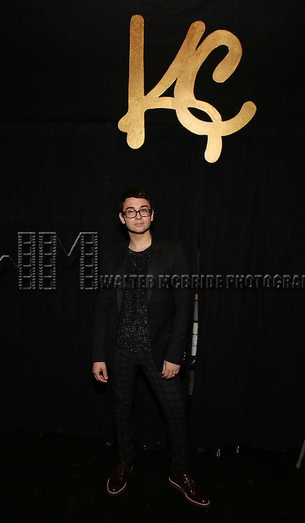 Christian Siriano backstage during the Opening Night of Kristin Chenoweth - 'My Love Letter To Broadway'  at the Lunt-Fontanne Theatre on November 2, 2016 in New York City.