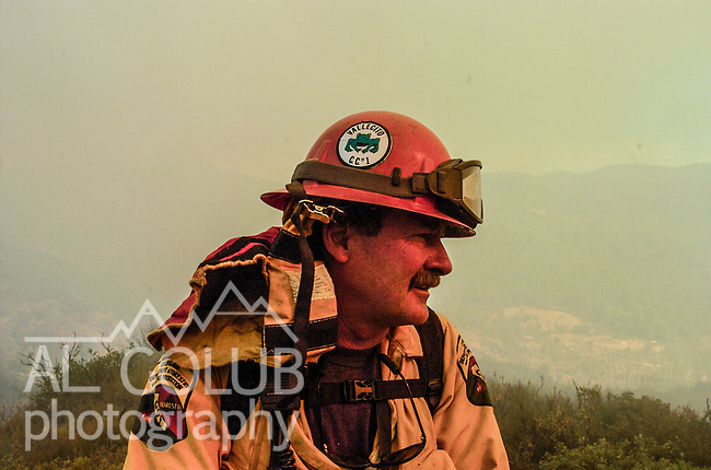 September 12, 2004 Buck Meadows --Tuolumne Fire –- Fire Captain for Vallecito Conservation Camp Crew #1 on Cherry Oil Road. The Tuolumne Fire was a small very fast-moving fire that started around noon on September 12, 2004 near Lumsden Bridge at the bottom of the Tuolumne River.  The fire moved rapidly up the 80-plus-degree slope catching Cal Fire Helitack firefighters, tragically killing firefighter Eva Marie Schicke and injuring five others.