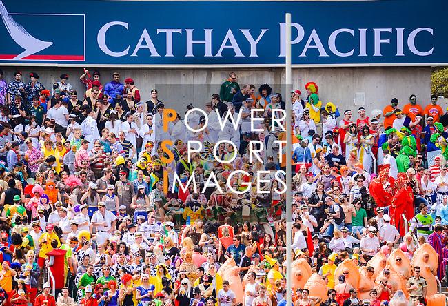 Uruguay vs China on Day 2 of the 2012 Cathay Pacific / HSBC Hong Kong Sevens at the Hong Kong Stadium in Hong Kong, China on 24th March 2012. Photo © Felix Ordonez / PSI for HKRFU