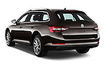 Car pictures of rear three quarter view of 2016 Skoda Superb Combi Laurin & Klement 5 Door Wagon Angular Rear