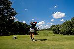 STILLWATER, OK - MAY 23: Bianca Paganganan of Arizona tees off on the 8th during the Division I Women's Golf Team Match Play Championship held at the Karsten Creek Golf Club on May 23, 2018 in Stillwater, Oklahoma. (Photo by Shane Bevel/NCAA Photos via Getty Images)