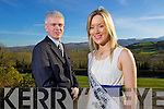 Mark Sullivan General Manager of the Ballyroe heights Hotel with Reigning Kerry Rose Veronica Hunt at the launch of the 2011 Kerry Rose Selection.