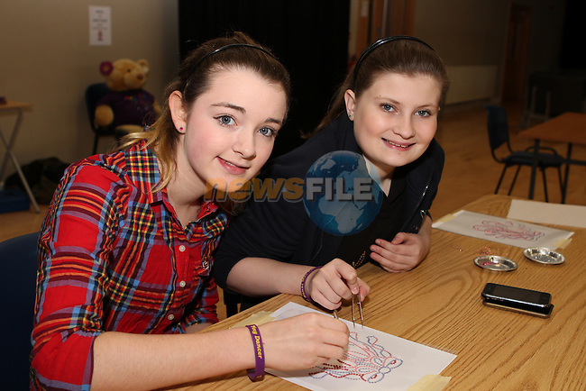Hannah Bergin and Shauna Woodhouse at the Bling-Tastic Event in The Barbican in aid of The Sunni Mae Trust...Photo NEWSFILE/Jenny Matthews..(Photo credit should read Jenny Matthews/NEWSFILE)