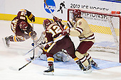 Joe Basaraba (Duluth - 18), Parker Milner (BC - 35), Jack Connolly (Duluth - 12), Edwin Shea (BC - 8) - The Boston College Eagles defeated the University of Minnesota Duluth Bulldogs 4-0 to win the NCAA Northeast Regional on Sunday, March 25, 2012, at the DCU Center in Worcester, Massachusetts.