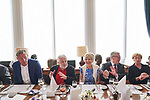 Germany, Berlin, 2018/05/28<br /> <br /> Verleihung des Scopus Award an Henryk M. Broder am 28/5/2018. V.l.: Matthias Töpfer, Henryk M. Broder, Friede Springer, Joachim Gauck. (Photo by Gregor Zielke)