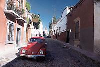 A typical street in San Miguel de Allende