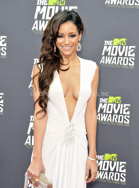 WWW.ACEPIXS.COM....April 14, 2013, Los Angeles, Ca.......Melanie Iglesias arriving at the 2013 MTV Movie Awards at Sony Pictures Studios on April 14, 2013 in Culver City, California.......By Line: Peter West/ACE Pictures....ACE Pictures, Inc..Tel: 646 769 0430..Email: info@acepixs.com