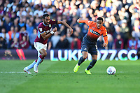 Ahmed Elmohamady of Aston Villa vies for possession with Martin Olsson of Swansea City during the Sky Bet Championship match between Aston Villa and Swansea City at Villa Park in Birmingham, England, UK.  Saturday 20 October  2018