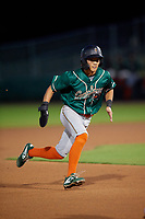 Greensboro Grasshoppers Ji-Hwan Bae (51) running the bases during a South Atlantic League game against the Delmarva Shorebirds on August 21, 2019 at Arthur W. Perdue Stadium in Salisbury, Maryland.  Delmarva defeated Greensboro 1-0.  (Mike Janes/Four Seam Images)