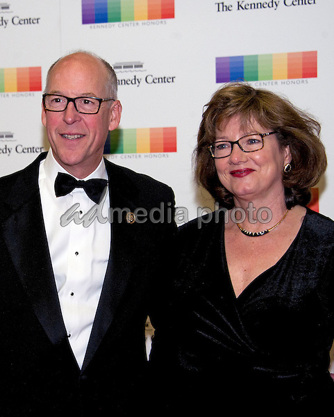 United States Representative Greg Walden (Republican of Oregon) and his wife, Mylene, arrive for the formal Artist's Dinner honoring the recipients of the 39th Annual Kennedy Center Honors hosted by United States Secretary of State John F. Kerry at the U.S. Department of State in Washington, D.C. on Saturday, December 3, 2016. The 2016 honorees are: Argentine pianist Martha Argerich; rock band the Eagles; screen and stage actor Al Pacino; gospel and blues singer Mavis Staples; and musician James Taylor. Photo Credit: Ron Sachs/CNP/AdMedia