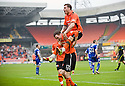 :: DUNDEE UTD'S DAVID GOODWILLIE CELEBRATES AFTER HE SCORES UNITED'S THIRD :: .23/04/2011   Copyright  Pic : James Stewart.sct_jsp008_dundee_utd_v_kilmarnock .James Stewart Photography 19 Carronlea Drive, Falkirk. FK2 8DN      Vat Reg No. 607 6932 25.Telephone      : +44 (0)1324 570291 .Mobile              : +44 (0)7721 416997.E-mail  :  jim@jspa.co.uk.If you require further information then contact Jim Stewart on any of the numbers above.........