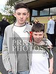 Ben Hughes who was Confirmed in the Holy Family Church Ballsgrove pictured with his brother Jake. Photo:Colin Bell/pressphotos.ie