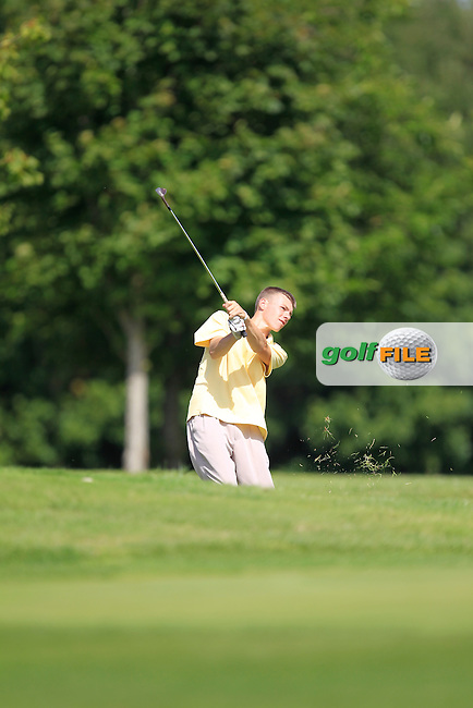 Nioclas O'Conduin (West Waterford) on the 10th during the Irish Boys Under 15 Amateur Open Championship Round 2 at the West Waterford Golf Club on Wednesday 21st August 2013 <br /> Picture:  Thos Caffrey/ www.golffile.ie