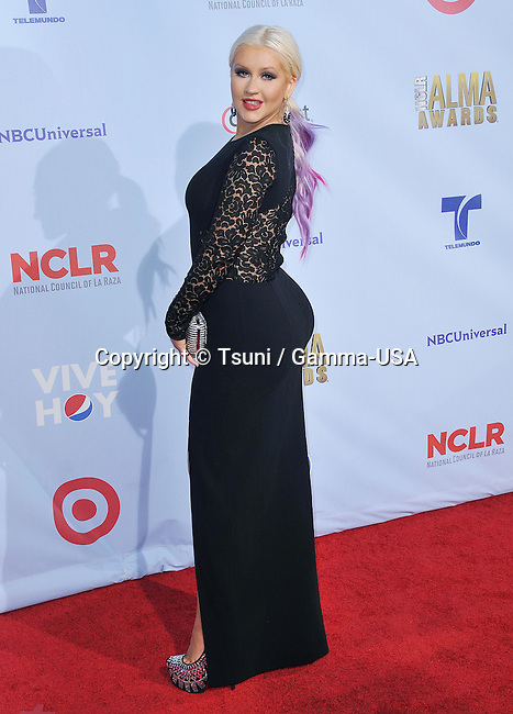 Christina Aguilera  at the 2012 NCLR ALMA Awards at the Pasadena Auditorium in Pasadena.