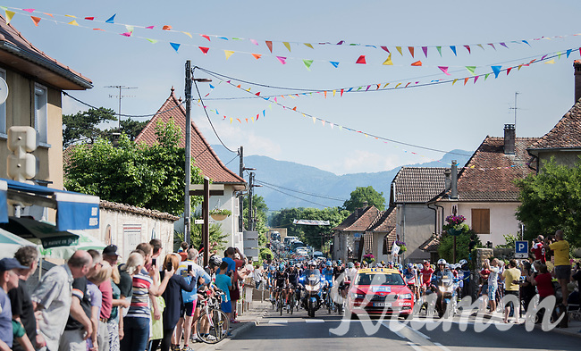 neutral start roll-out in Aoste<br /> <br /> stage 7: Aoste > Alpe d'Huez (168km)<br /> 69th Critérium du Dauphiné 2017