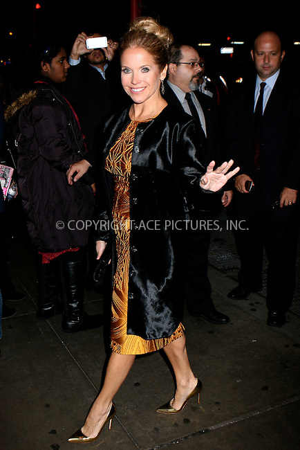 WWW.ACEPIXS.COM....November 12 2012, New York City....Katie Couric arriving at the 22nd annual Glamour Women of the Year Awards at Carnegie Hall on November 12, 2012 in New York City.....By Line: Nancy Rivera/ACE Pictures......ACE Pictures, Inc...tel: 646 769 0430..Email: info@acepixs.com..www.acepixs.com