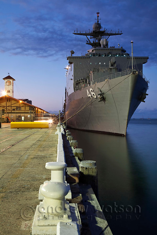 The USS Tortuga moored at Trinity Wharf.  Cairns, Queensland, Australia
