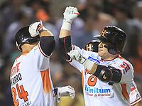 Home Run de Jose Amador de Naranjeros, durante la apertura de la temporada de beisbol de la Liga Mexicana del Pacifico 2017 2018 con el partido entre Naranjeros vs Yaquis. 11 octubre2017 . <br /> (Foto: Luis Gutierrez /NortePhoto.com)