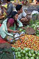 Colorful vegetable market in Bagan area,Burma